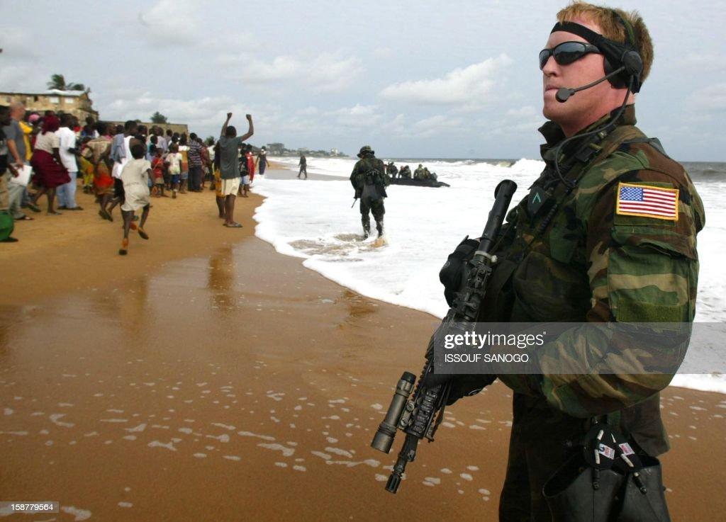 LIBERIA-US-MARINES : News Photo