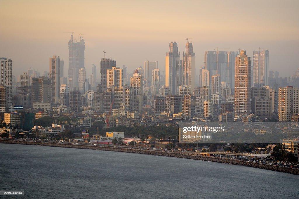 Marine Drive in Mumbai : ストックフォト