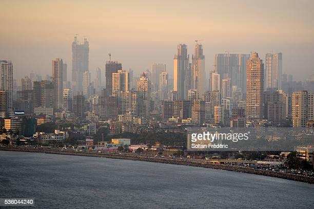 marine drive in mumbai - マハラシュトラ州 ストックフォトと画像