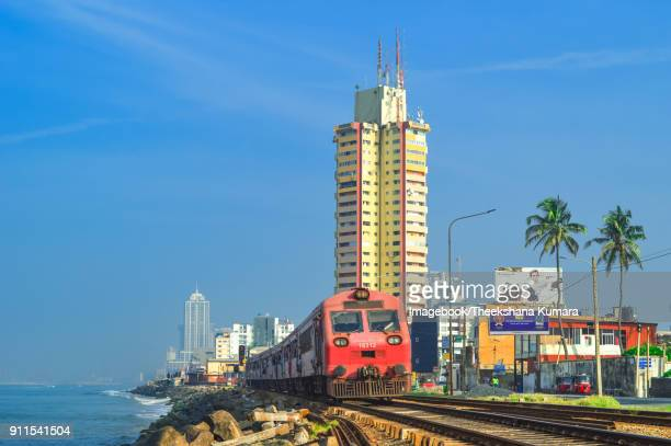 marine drive view towards colombo city, sri lanka - lanka stock pictures, royalty-free photos & images