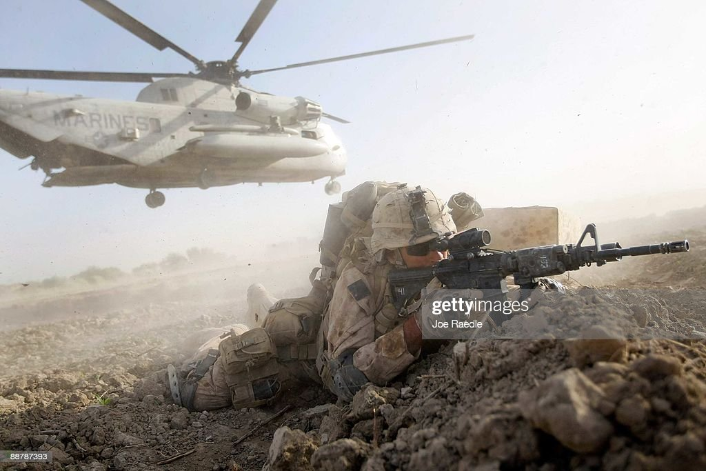 U.S. Marines Continue Suppression Of Insurgents : News Photo