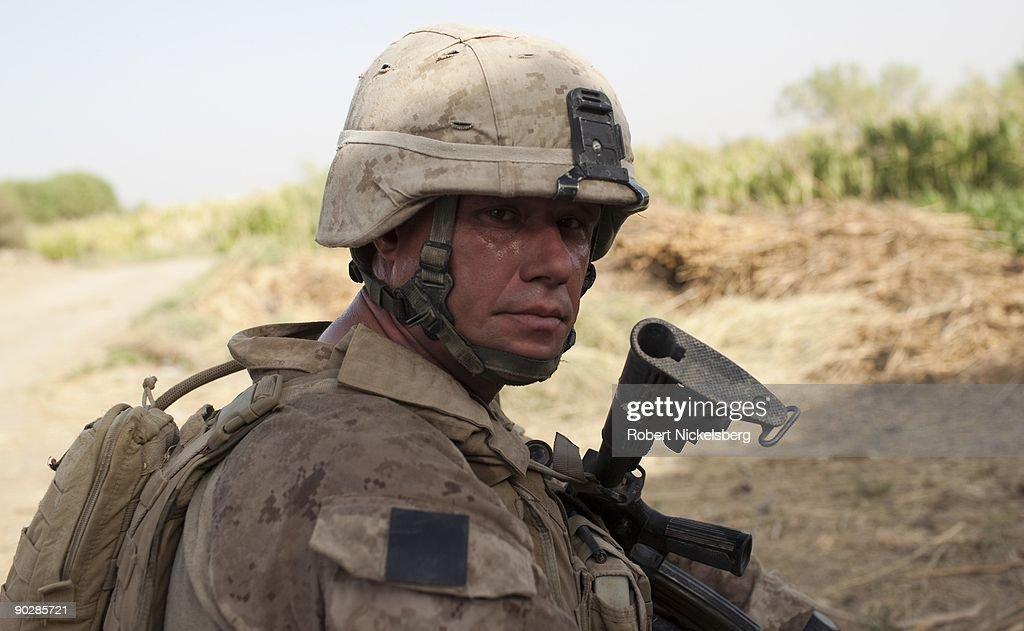US Marines In Khan Neshin : News Photo