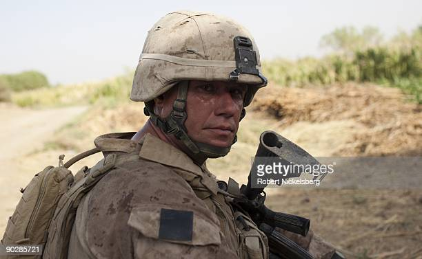Marine from the 2nd Marine Division 2nd Light Armored Reconnaissance Battalion Delta Company Sergeant John Ingels 35 years of Kansas City Missouri...