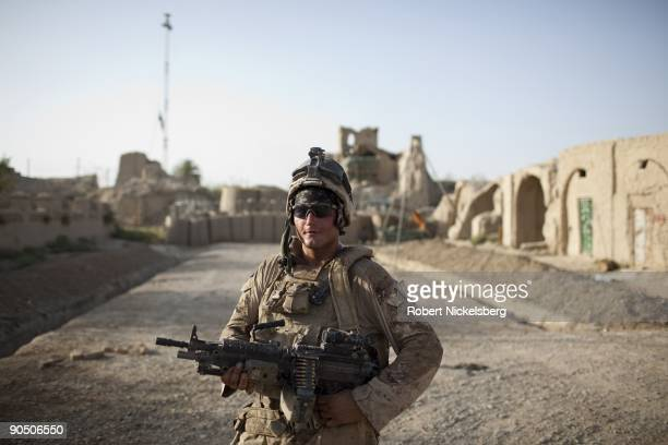 Marine from the 2nd Marine Division 2nd Light Armored Reconnaissance Battalion Delta Company Lance Corporal Nathan Nail 21 years of Oxford Alabama...