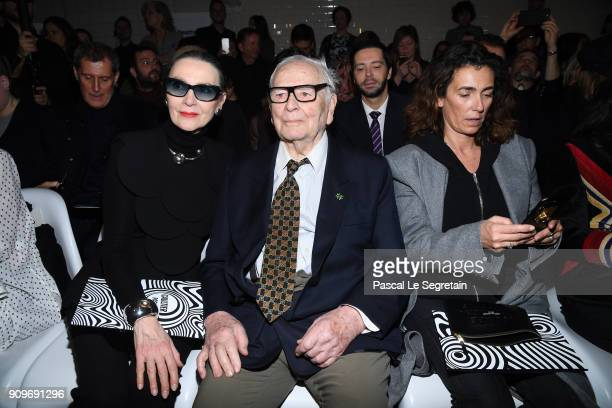 Marine Gaspart Pierre Cardin and Mademoiselle Agnes attend the JeanPaul Gaultier Haute Couture Spring Summer 2018 show as part of Paris Fashion Week...