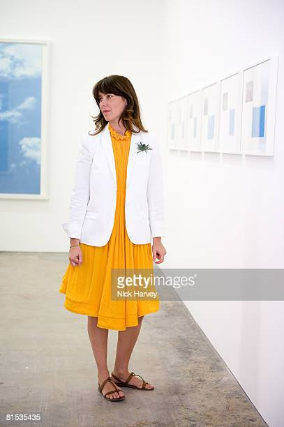 Marine Hugonnier attends Marine Hugonnier's 'The Secretary of the Invisible' exhibition private view at the Max Wigram Gallery 28 Redchurch Street in...