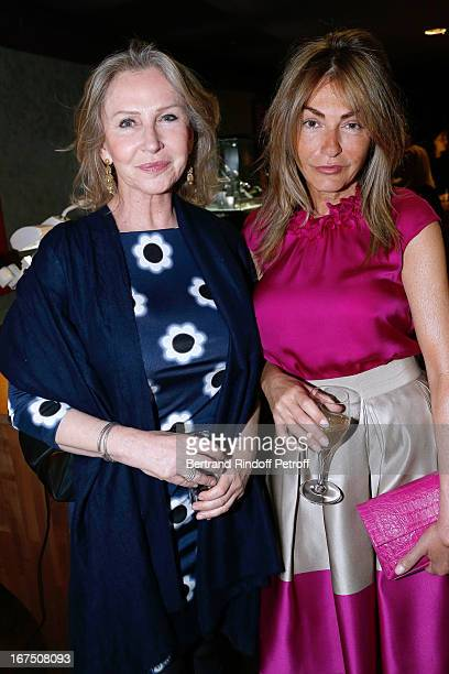 Marine Jacquemin and Maryam Mahdavi attend 'Les P'tits Cracks' Charity Dinner At Pavillon des Champs Elysees on April 25 2013 in Paris France