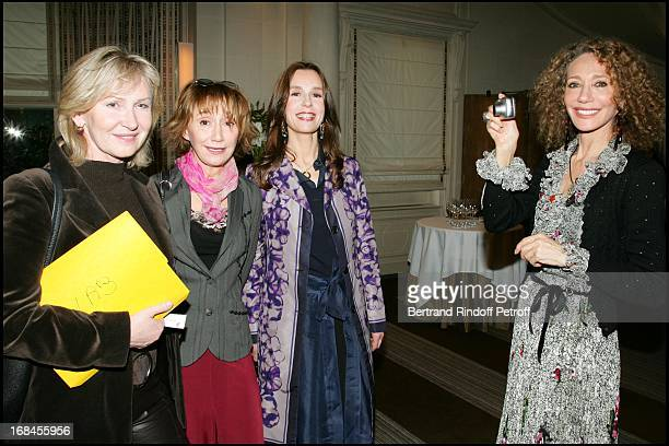 Marine Jacquemin Marie Anne Chazel Karin Averty and Marisa Berenson at Lunch To Announce the 60th Anniversary Of De Care