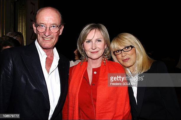 Marine Jacquemin Mireille Darc and her husband in ParisFrance on May 192006