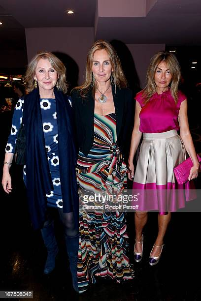 Marine Jacquemin President of the Charity Association Celine Charloux and Maryam Mahdavi attend 'Les P'tits Cracks' Charity Dinner At Pavillon des...