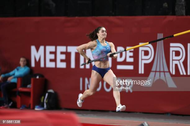 Marine Kylypko of Ukraine competes in pole vault during the Athletics Indoor Meeting of Paris 2018 at AccorHotels Arena in Paris France on February 7...