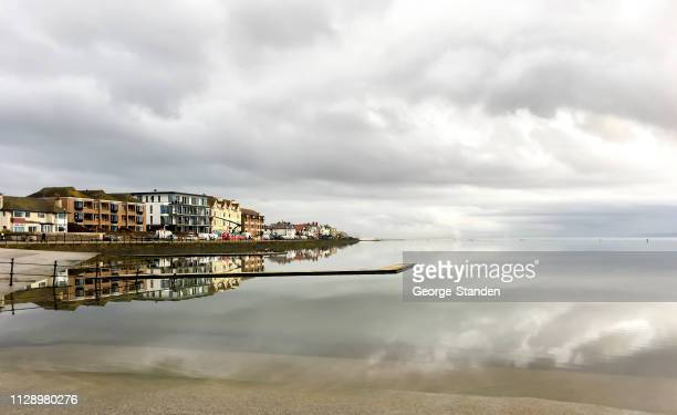 marine lake, west kirby - george kirby stock pictures, royalty-free photos & images