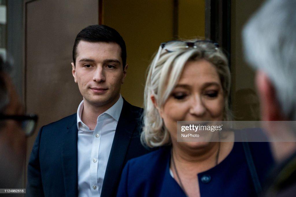 FRA: Marine Le Pen And Jordan Bardella In Lyon