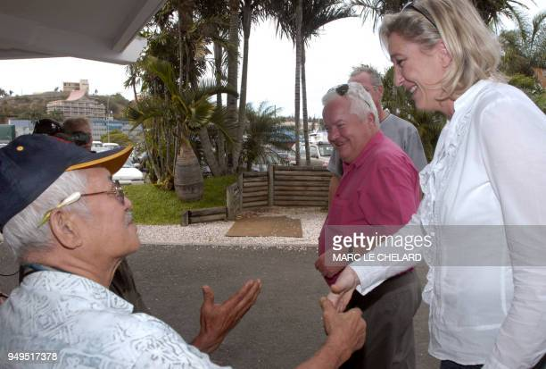 Marine Le Pen daughter of farright National Front leader JeanMarie Le Pen and party's Vice President visits Noumea's market 02 December 2006 Marine...
