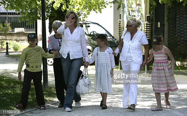 Marine Le Pen daughter of JeanMarie Le Pen leader of the French National Front Party and Presidential candidate casts his vote in the first round...