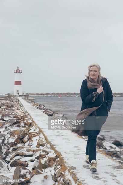 Marine Le Pen during her visit to Quebec on march 24 2016 in SaintPierre