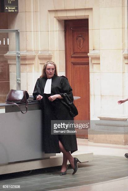 Marine Le Pen waiting in the court hall during the Doctor Gubler's trial Paris France 13th June 1996