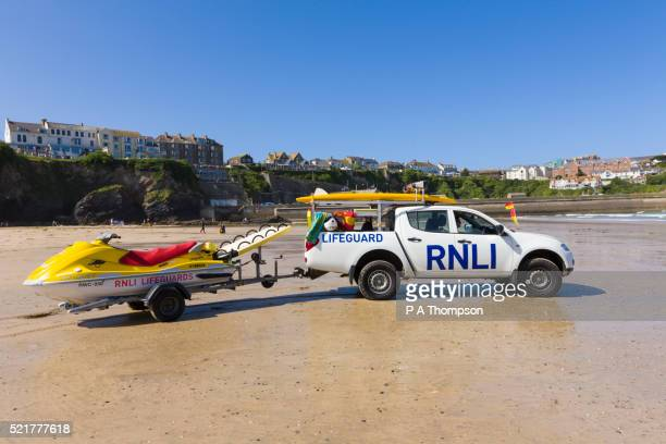 rnli marine lifeguard - cornish flag stock pictures, royalty-free photos & images