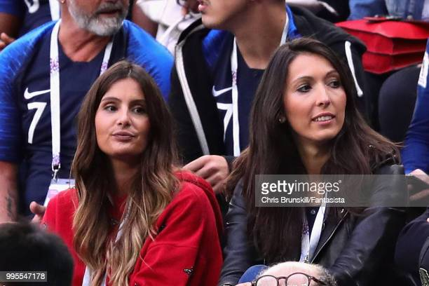 Marine Lloris wife of Hugo Lloris of France and Jennifer Giroud wife of Olivier Giroud of France attend the 2018 FIFA World Cup Russia Semi Final...