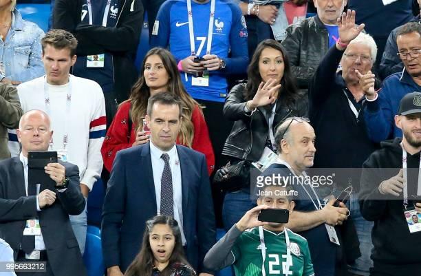 Marine Lloris wife of Hugo Lloris of France Jennifer Giroud wife of Olivier Giroud of France following the 2018 FIFA World Cup Russia Semi Final...