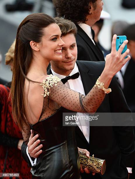 Marine Lorphelin and Bastian Baker attend the Opening ceremony and the Grace of Monaco Premiere during the 67th Annual Cannes Film Festival on May 14...