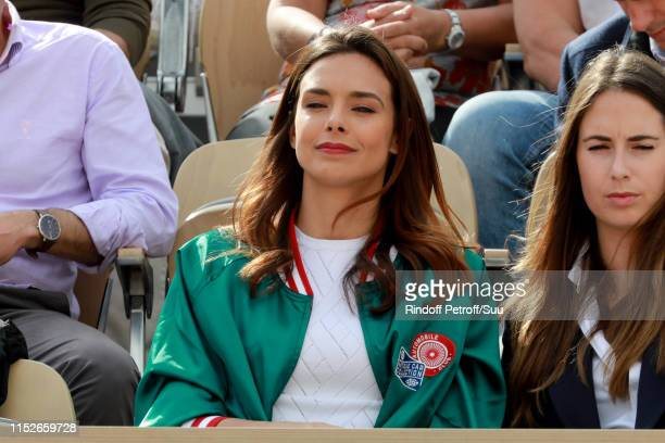 Marine Lorphelin attends the 2019 French Tennis Open - Day Five at Roland Garros on May 30, 2019 in Paris, France.