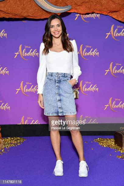 Marine Lorphelin attends the Aladdin gala screening at Le Grand Rex on May 08 2019 in Paris France