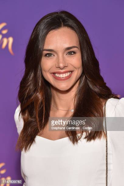 """Marine Lorphelin attends the """"Aladdin"""" Paris Gala Screening at Cinema Le Grand Rex on May 08, 2019 in Paris, France."""
