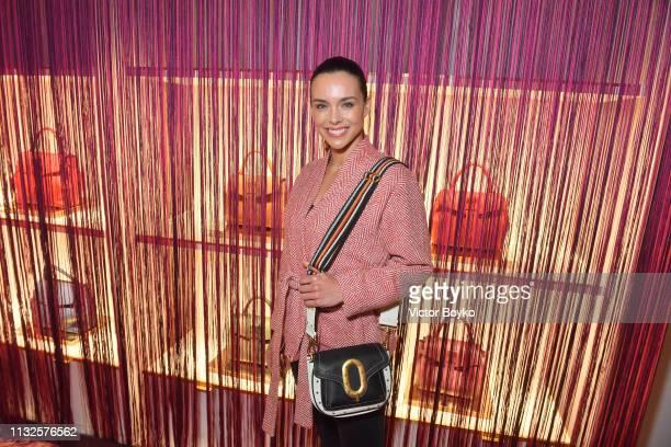 Marine Lorphelin attends the Lancel presentation as part of the Paris Fashion Week Womenswear Fall/Winter 2019/2020 on February 27, 2019 in Paris,...