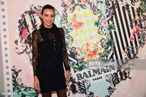 Marine Lorphelin attends the launch of the Heart Stamp Cocktail Celebration at Hotel ChoiseulPraslin on February 8 2017 in Paris France