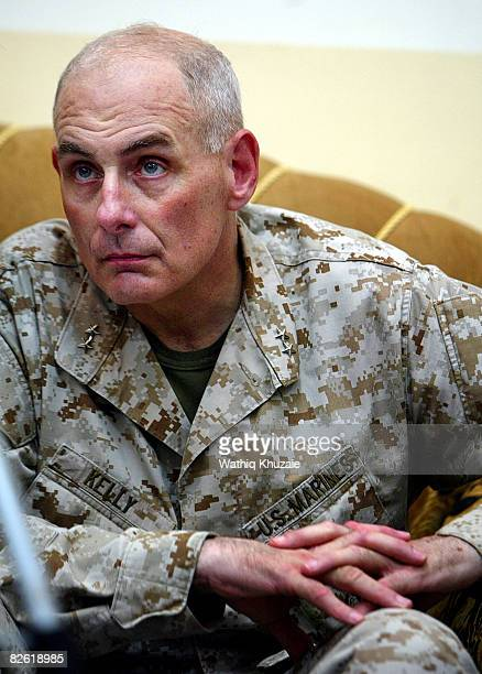 S Marine Maj Gen John Kelly attends a handover ceremony at the government headquarters September 1 2008 in Ramadi the capital of Anbar province 180...