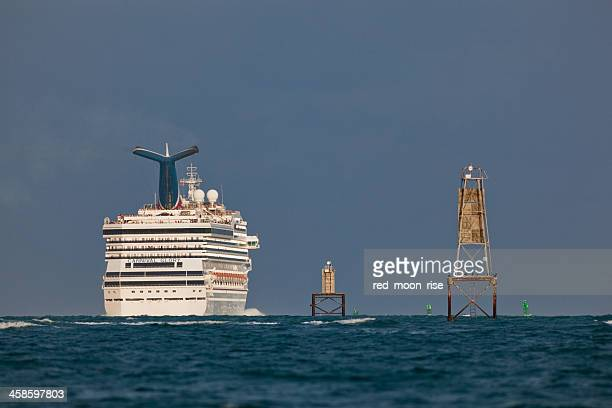 marine navigation - bermuda triangle stock photos and pictures