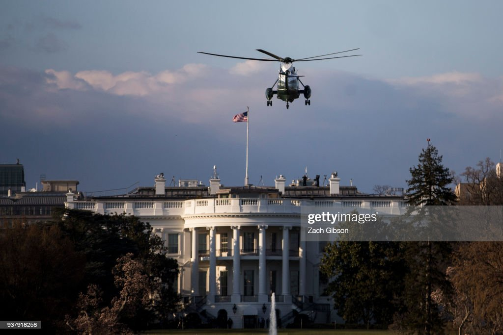 President Trump Returns To The White House After Weekend In Florida : News Photo