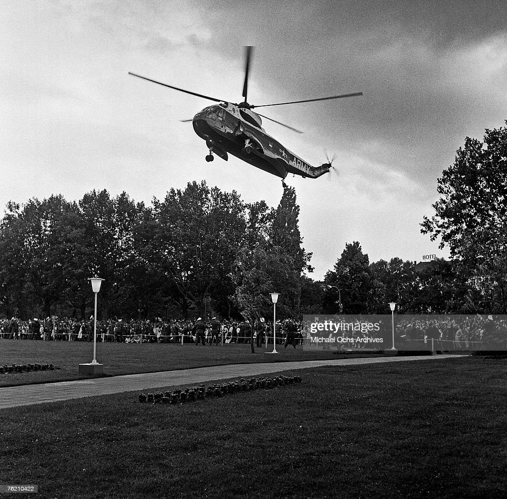 President Kennedy Arrives In Berlin : News Photo