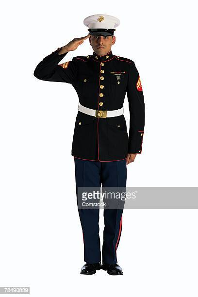 marine saluting - saluting stock pictures, royalty-free photos & images