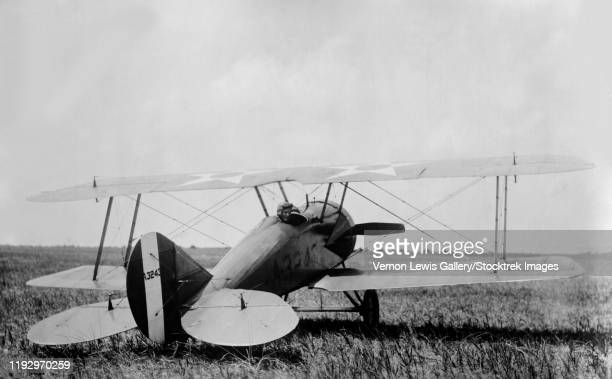 a marine scout biplane during world war i. - wwi plane stock pictures, royalty-free photos & images