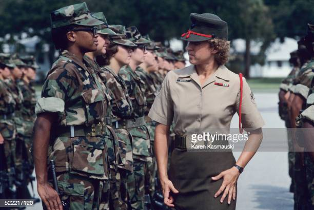 Marine Sergeant Inspecting Recruits