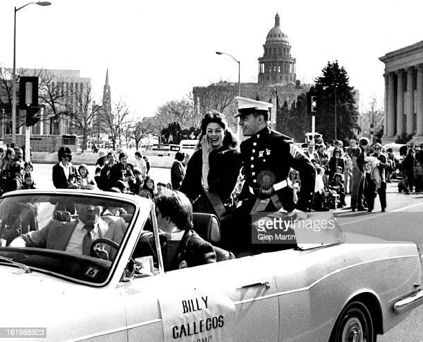 MAR 11 1981 MAR 14 1981 MAR 15 1981 Marine Sgt Bill Gallegos was a Grand Marshall at Denver St Patrick's Day Parade Saturday was a day for green hats...