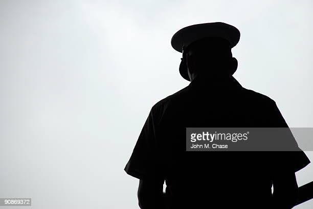 u.s. marine silhouette - soldier praying stock photos and pictures