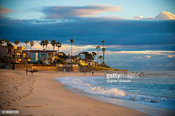 marine street beach, summer sky - san diego stock pictures, royalty-free photos & images