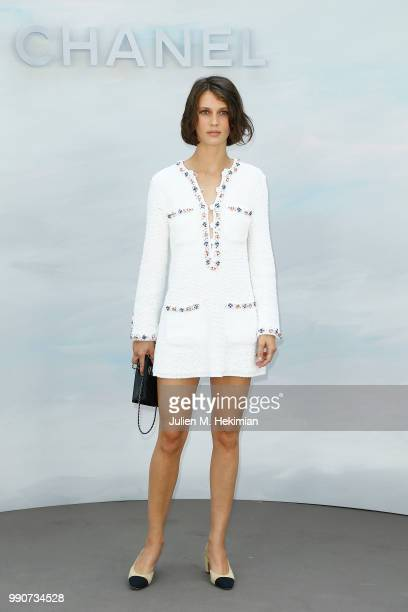 Marine Vacth attends the Chanel Haute Couture Fall Winter 2018/19 show at Le Grand Palais on July 3 2018 in Paris France