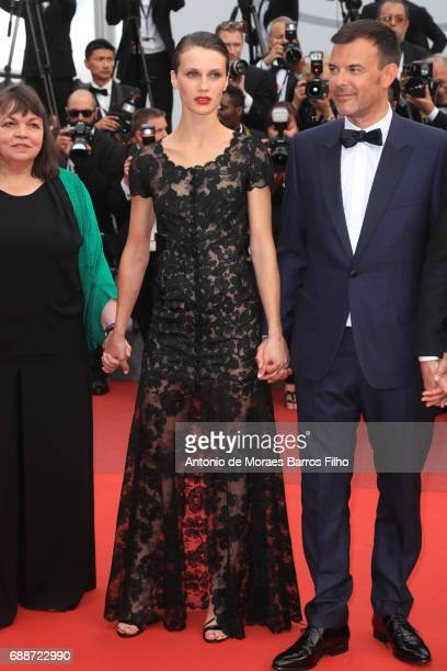 Marine Vacth attends the 'L'Amant Double 'screening during the 70th annual Cannes Film Festival at Palais des Festivals on May 26 2017 in Cannes...