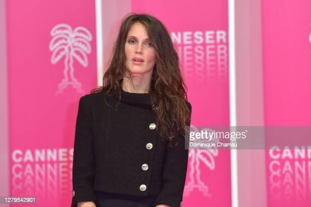 Marine Vacth attends the Pink Carpet : Day Two at the 3rd Canneseries on October 10, 2020 in Cannes, France.