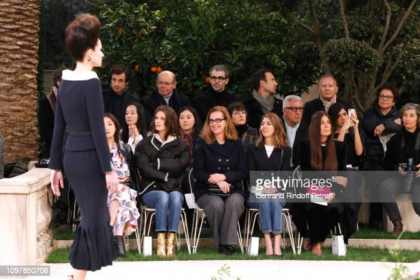 Marine Vacth, Carole Bouquet, Sofia Coppola and a guest attend the Chanel Haute Couture Spring Summer 2019 show as part of Paris Fashion Week on...