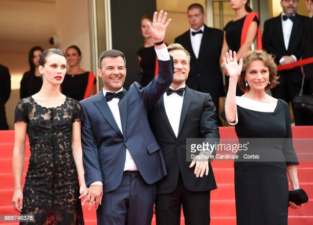 Marine Vacth director Francois Ozon Jeremie Renier and Jacqueline Bisset attend the 'Amant Double ' premiere during the 70th annual Cannes Film...