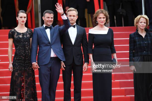 Marine Vacth director Francois Ozon Jeremie Renier Jacqueline Bisset and President of the CNC Frederique Bredin attend the 'Amant Double ' screening...