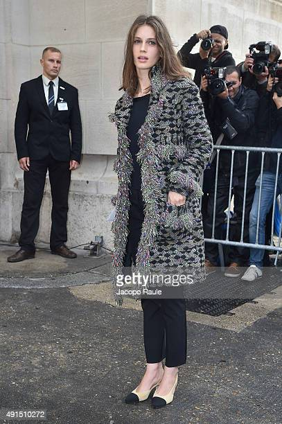 Marine Vatch arrives at Chanel Fashion Show during the Paris Fashion Week S/S 2016 Day Eight on October 6 2015 in Paris France