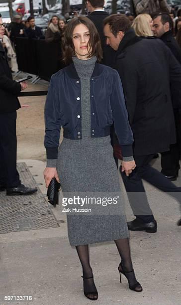 Marine Vatch arriving the Chanel Fashion Show during Paris Fashion Week
