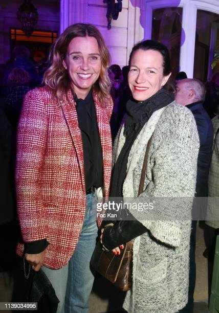 Marine Vignes and Anne Sophie Mondaud Attend The Flair Group Celebrates Its 10th Anniversary Photocall At Hotel Le Marois In Paris on March 28 2019...