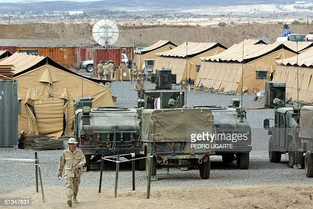 US marine walks in Camp Lemonier the US military base in Djibouti 17 December 2002 The military base is taking part in the fight against terrorism in...